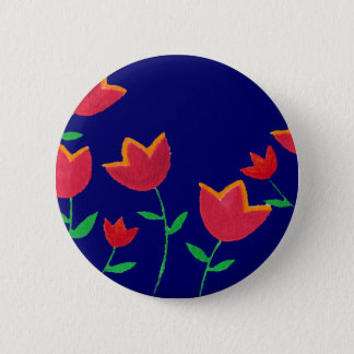 red tulip flowers pinback button