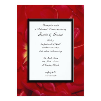 Red Tulip Frame Wedding Rehearsal Dinner Personalized Announcement