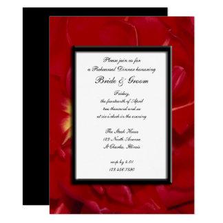 Red Tulip Frame Wedding Rehearsal Dinner Invite