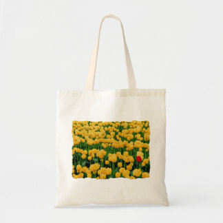 Red Tulip in a Yellow Tulip Field Tote Bag