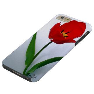 Red Tulip in Full Bloom Tough iPhone 6 Plus Case