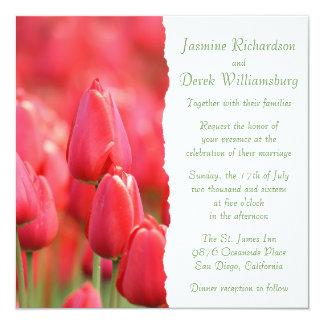 Red Tulip Invitations