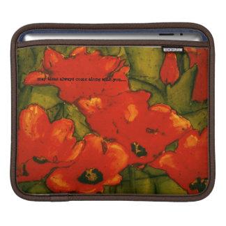 Red Tulip iPad or MacBook Air Case by Ann Haaland