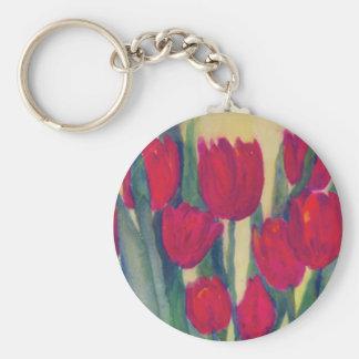 red tulip keychain