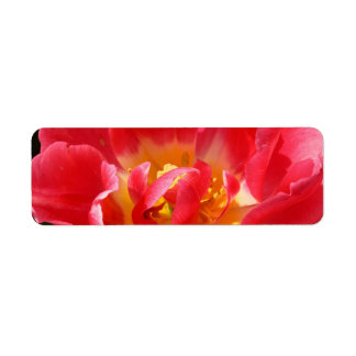 red tulip custom return address labels