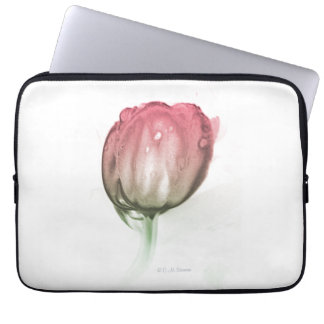 Red tulip laptop sleeve