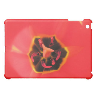 Red Tulip Macro iPad Case