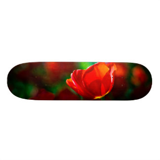 Red tulip - Mystery of blooming Skateboard Deck