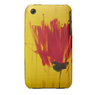Red Tulip on Yellow iphone case
