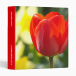 "Red Tulip Personalized 1"" Binder"