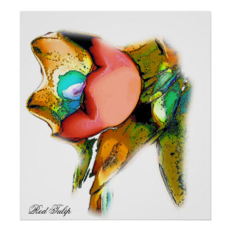 Red Tulip, photo poster