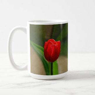 Red Tulip Spring Flower Coffee Mug