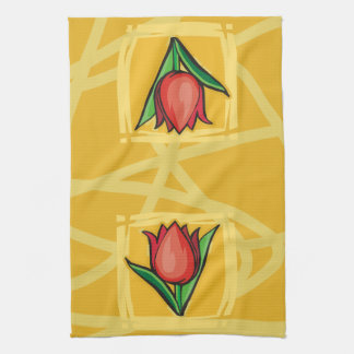 Red Tulip Towel