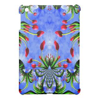 Red Tulip Whimsy Cute Floral Design iPad Mini Cases