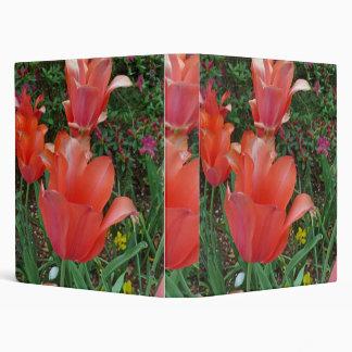 Red Tulips 3 Ring Binder
