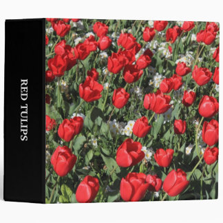 Red Tulips and White Primroses Binder
