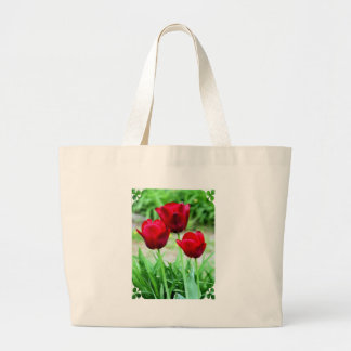 Red Tulips Canvas Bag