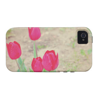 Red tulips iPhone 4 cover