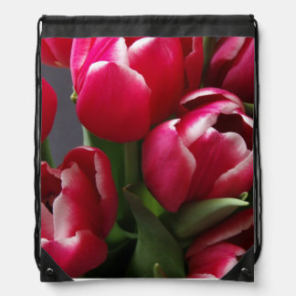 Red Tulips Cinch Bag