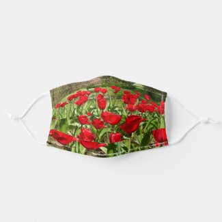 Red Tulips Cloth Face Mask
