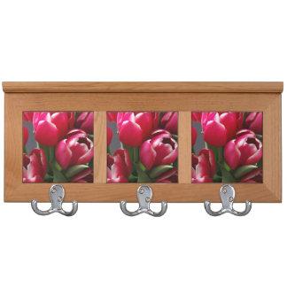 Red Tulips Coat Rack