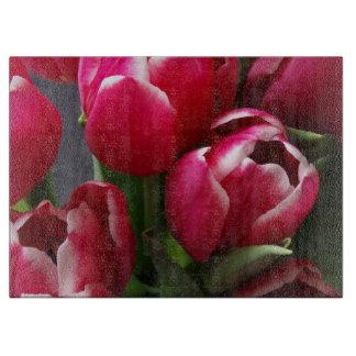 Red Tulips Cutting Board