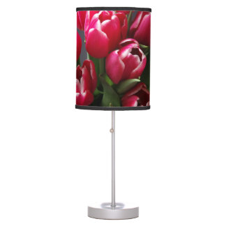 Red Tulips Desk Lamps