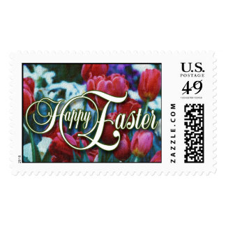 Red Tulips Easter Postage