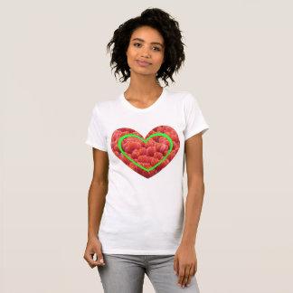 Red Tulips Field Heart Border App. T-Shirt