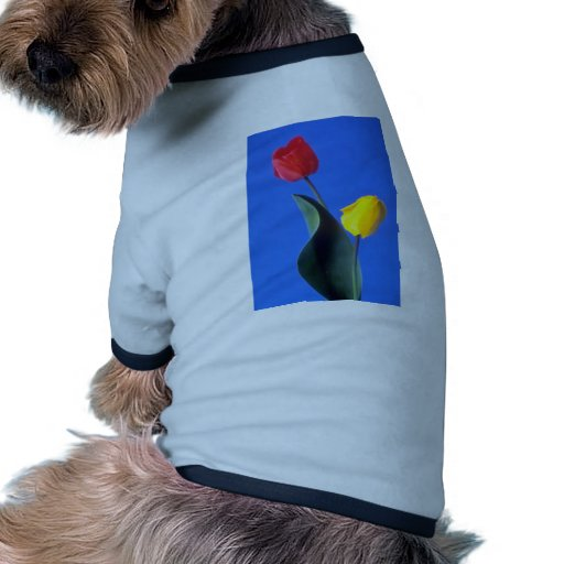 Red Tulips flowers Pet T Shirt
