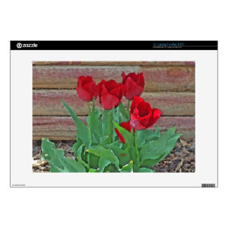 Red Tulips Flowers Petals Bloom by SD Kelley Laptop Decals