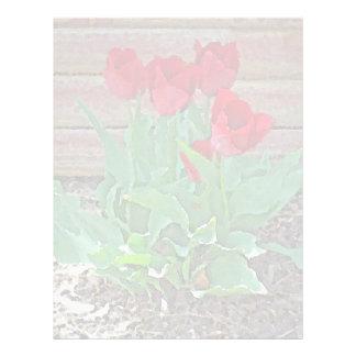 Red Tulips Flowers Petals Bloom by SD Kelley Letterhead