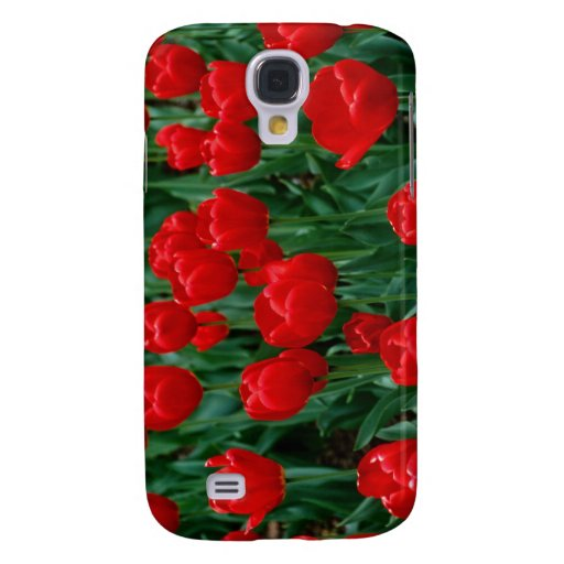 Red Tulips Galaxy S4 Case