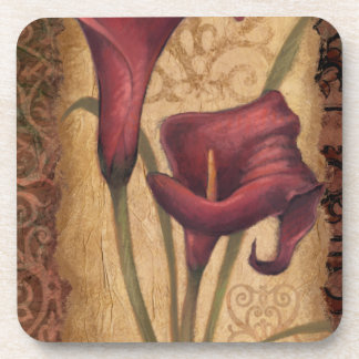 Red Tulips I Beverage Coasters
