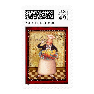 Red Tulips I Postage Stamp