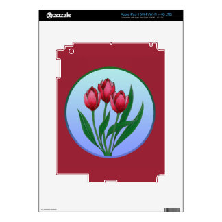 Red Tulips iPad 3 Skins