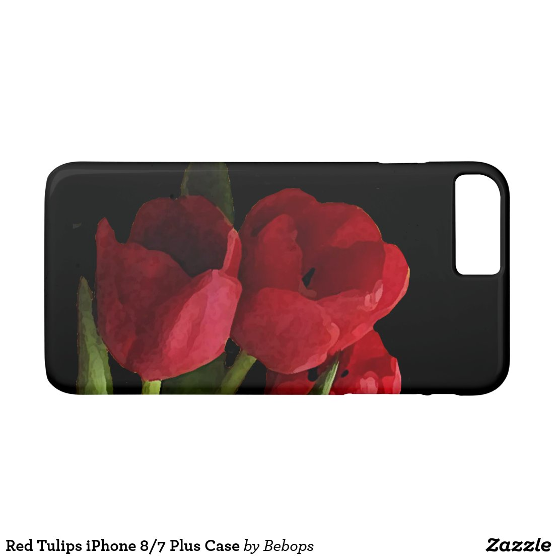 Red Tulips iPhone 7 Plus Case