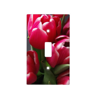 Red Tulips Light Switch Covers