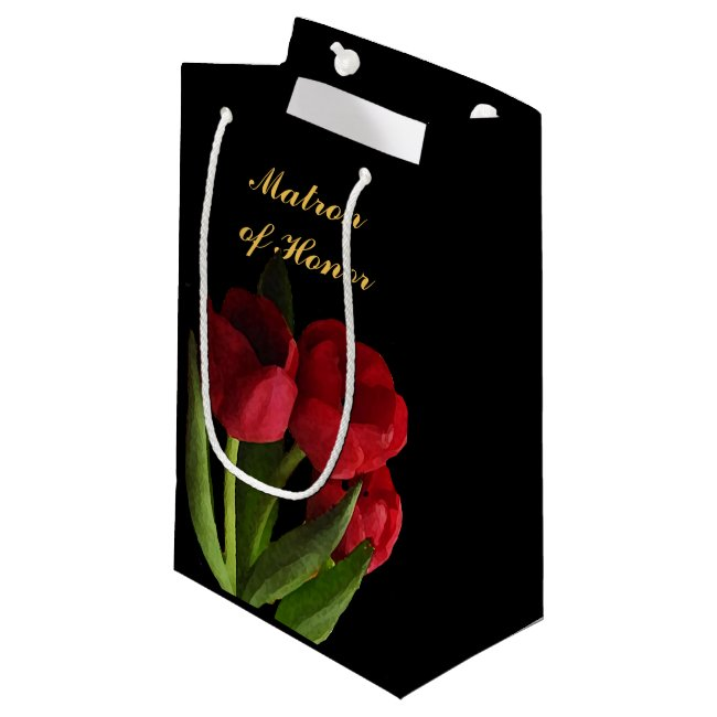 Red Tulips Matron of Honor Small Gift Bag