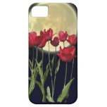 Red Tulips & Moon Art iPhone 5 Case