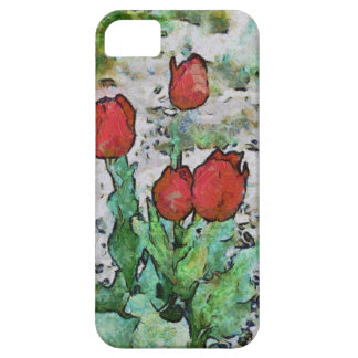 Red tulips painting iPhone SE/5/5s case