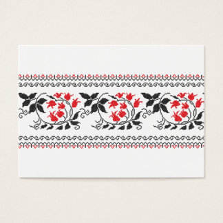 Red tulips pattern business card
