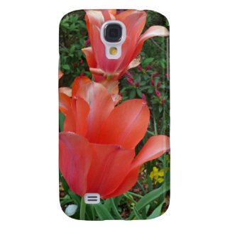 Red Tulips Samsung Galaxy S4 Covers