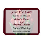 Red Tulips Save the Date Magnets