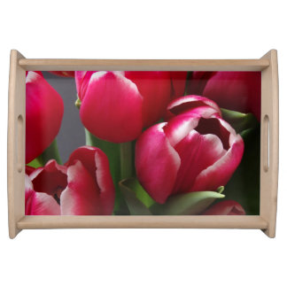 Red Tulips Serving Trays