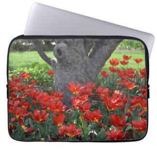 Red Tulips Sleeve Laptop Sleeves