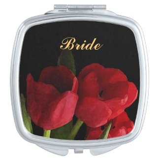 Red Tulips Wedding Bridal