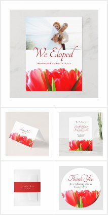 Red Tulips Wedding Collection