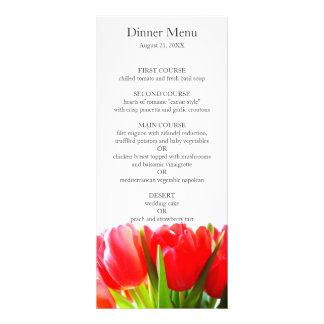 Red Tulips Wedding Menu