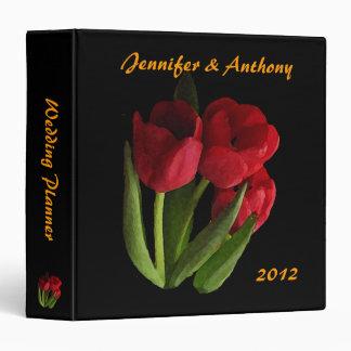 Red Tulips Wedding Planner Vinyl Binders